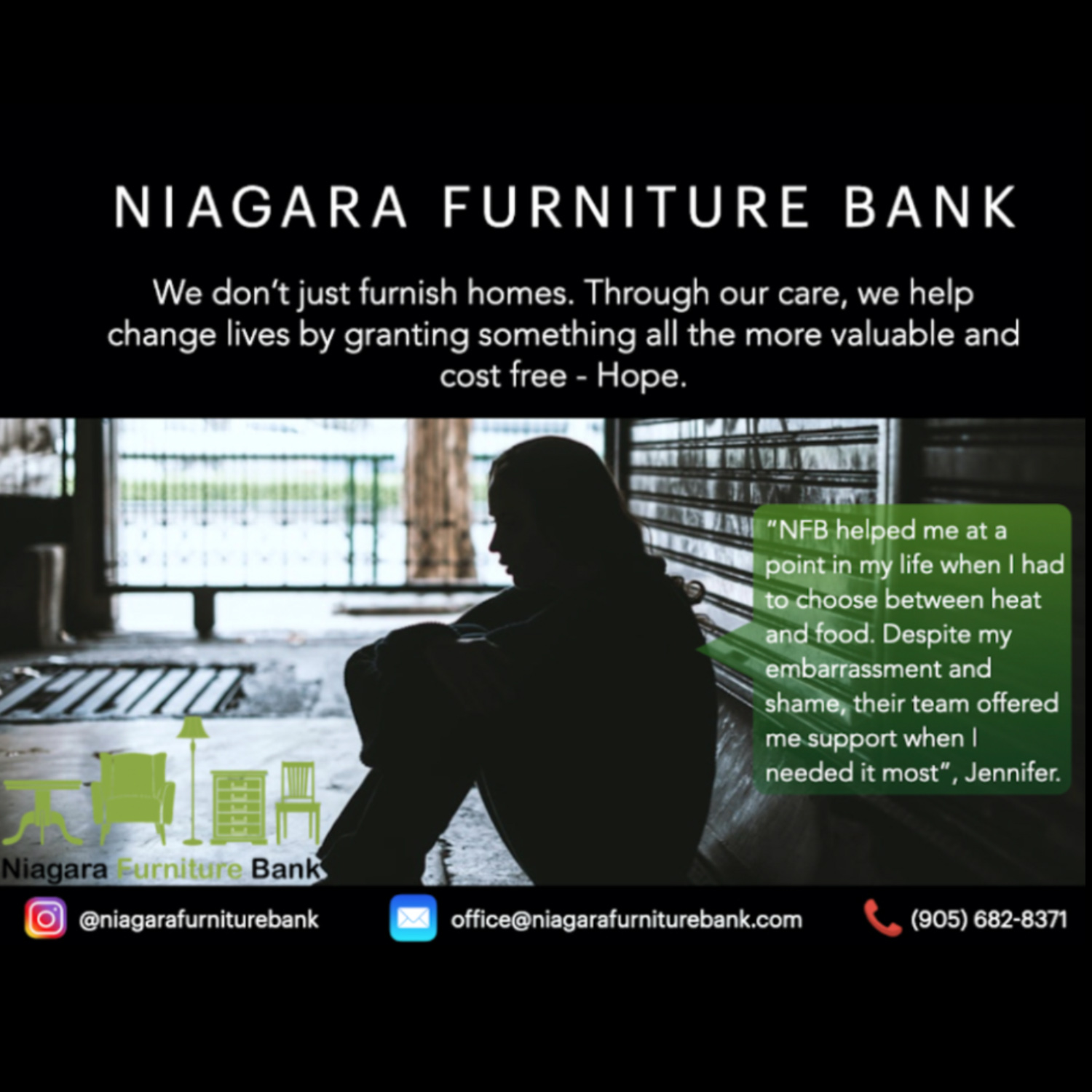 Testimonial - Jennifer - Niagara Furniture Bank