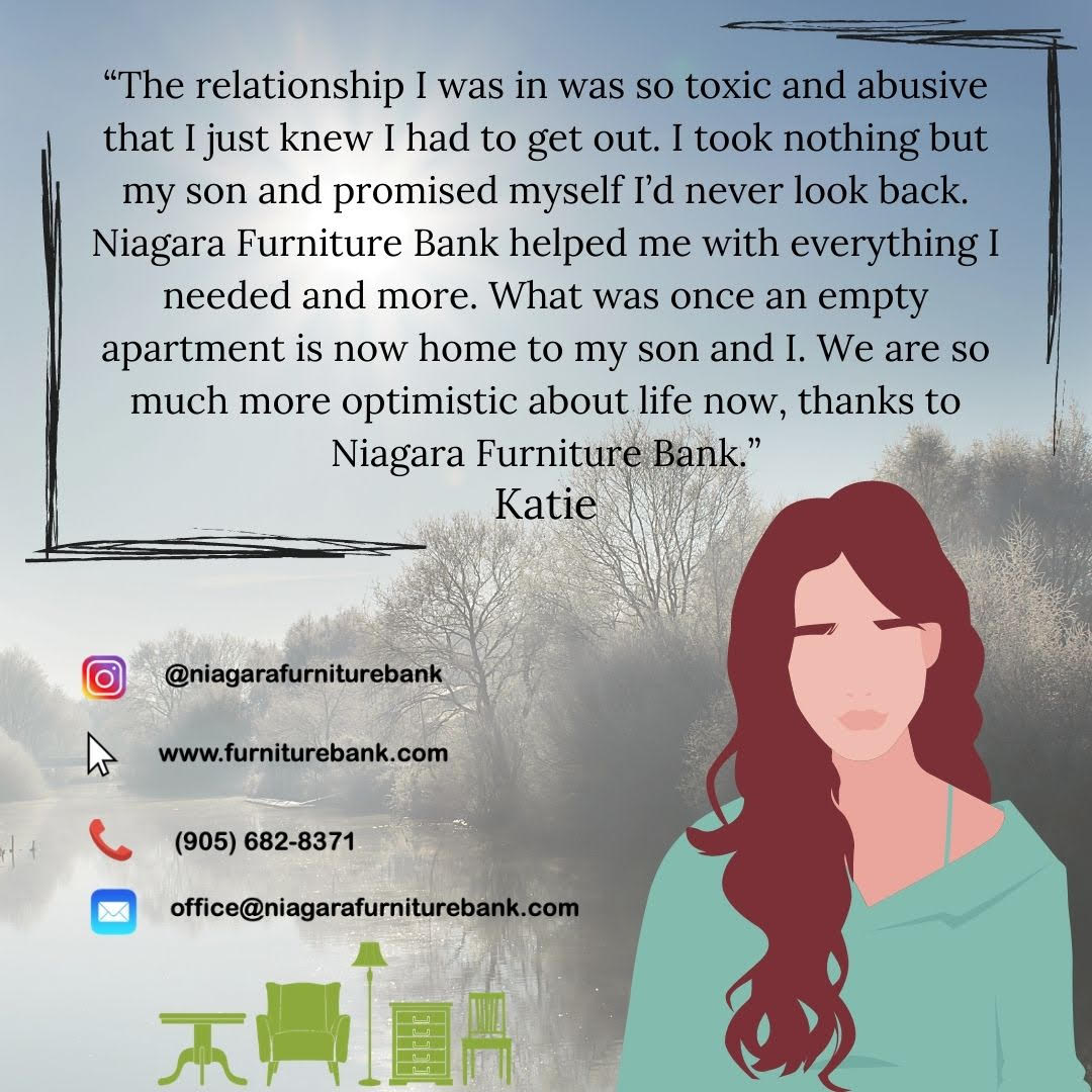 Testimonial - Katie - Niagara Furniture Bank