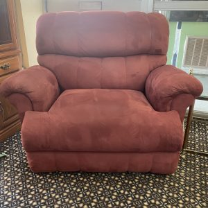 Oversized Reclining Chair - Cranberry Suede