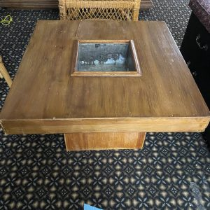 fire table wooden
