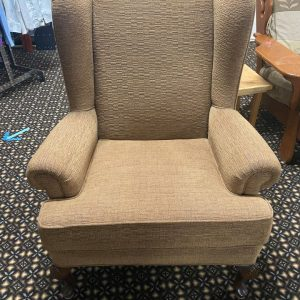 Wing Back Chair Tan