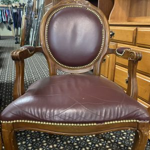 maroon leather chair